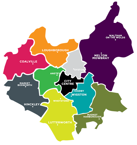 Skip Leicester Area coverage map