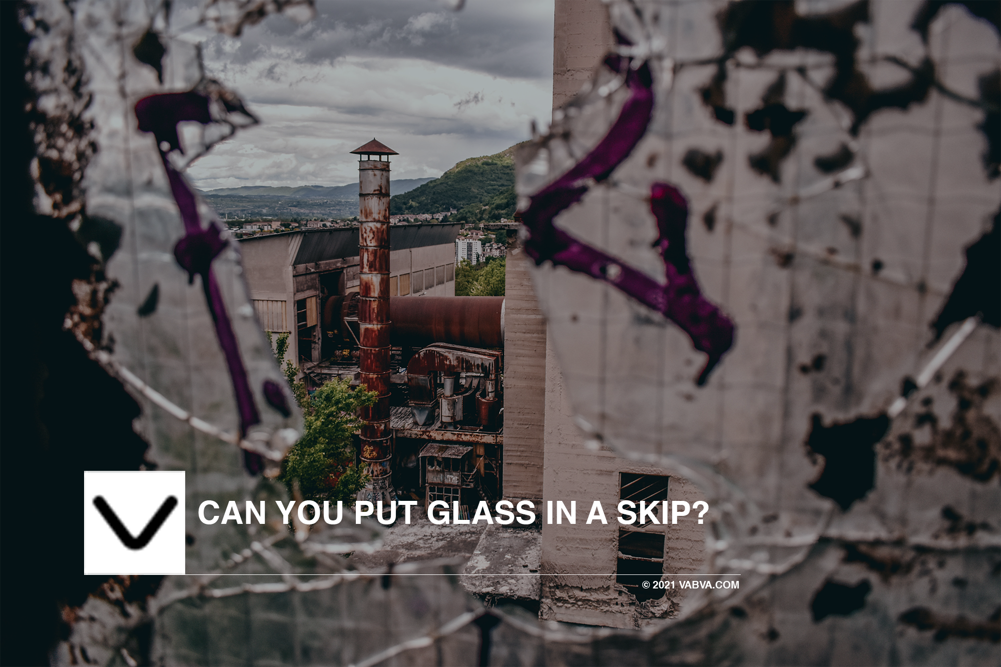 Can you put Glass in a skip?