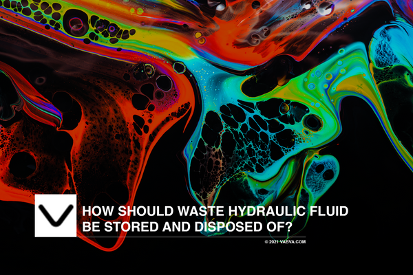 How Should Waste Hydraulic Fluid Be Stored and Disposed of?